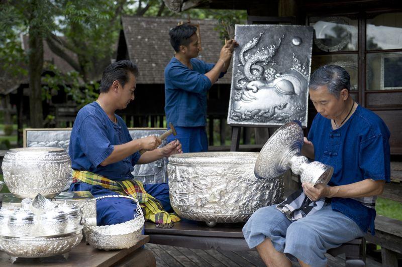 19 thai art chiang mai-silverware